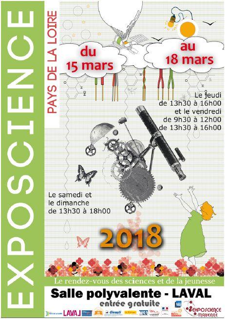 Affiche Exposcience Mayenne 2018